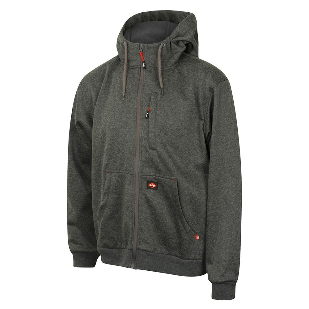 bonded fleece hoodie