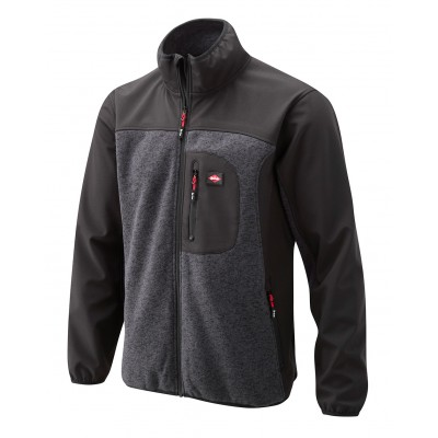 LCJKT429 SOFTSHELL JACKET WITH KNITTED PANELS