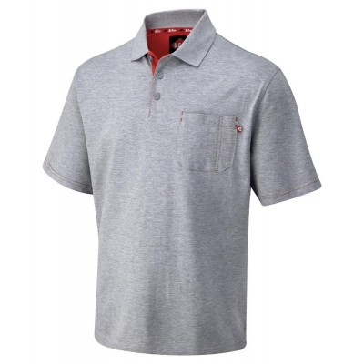 LCTS011 PIQUE POLO SHIRT GREY